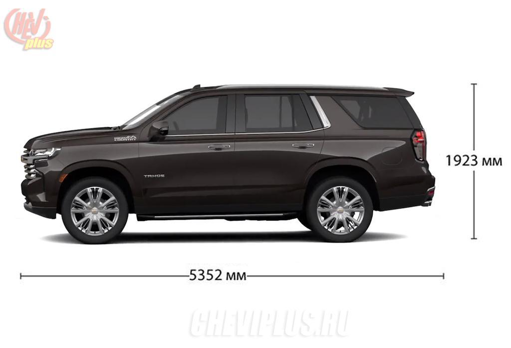 Chevrolet Tahoe 2021 размеры